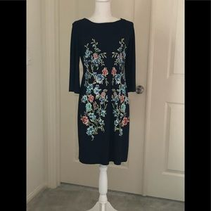 Shelby & Palmer Dresses - Ladies Navy blue with floral print dress